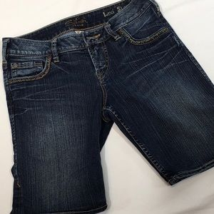 Silver Jeans Lexi Shorts Distressed Denim